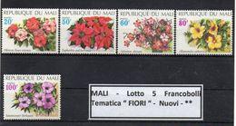 """Mali - Lotto 5 Francobolli Tematica """"FIORI """" - Nuovi - ** - (FDC9172) - Mali (1959-...)"""