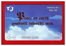 "JAMAICA:1995 JAM-19C ""Peace On Earth"" CN: 19JAMC. Used - Jamaica"