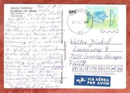AK Blumenau, EF Freiheitskopf, Nach Leonberg 1999 (49561) - Cartas