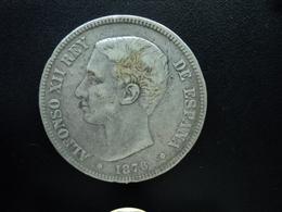 ESPAGNE : 5 PESETAS  1876 (18) (76) DE-M   KM 671 *   B+ - [ 1] …-1931 : Royaume