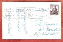 AK, EF, Bandstempel 800 Jahre Mariazell, Nach Karl-Marx-Stadt 1957 (49562) - 1945-60 Lettres