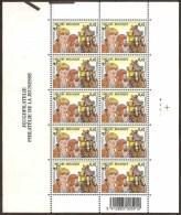 Belgium**BANDIT BAEKELANDT-CARTOONS-SHEET 10stamps-2002-MNH-Postcoach-Horses-BD - Belgium
