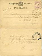 (Lo1878) Altdeutschland Ganzs. Bayern St. Reichenbach N. Bettenhausen Hinten Hk. St.Münchweiler - Germania