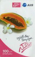 Mobilecard Thailand - AIS  - Obst,Früchte,fruits - Blüten - Papaya - Lebensmittel