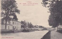 L Aude Bram Le Pont De Saissac Sur Le Canal Du Midi Peniche A Quai 1 - Bram