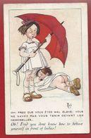 ENFANTS - ILLUSTRATEUR MICH - FRED , MONTRE SES FESSES AUX DEMOISELLES...PARAPLUIE  - ED. HERALD N° 7037 - Mich