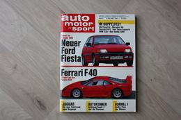 Auto Motor Und Sport - Heft 11/ Mai 1988 - Cars & Transportation