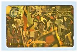 "St. KITTS & NEVIS: 1990 STK-4A ""Carnival At Christmas 1"" CN:4CSKA Rare (5.426 Ex) Used - St. Kitts & Nevis"