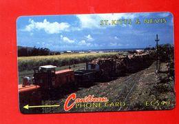 "St. KITTS & NEVIS: 1991 STK-5B ""Sugar Train"" CN:5CSKB Rare (10.250 Ex) Used - St. Kitts & Nevis"