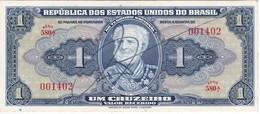 BILLETE DE BRASIL DE 1 CRUZEIRO DEL AÑO 1944 CON FIRMA EN CALIDAD EBC (XF) (BANK NOTE) - Brasil