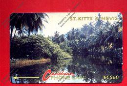 """St. KITTS & NEVIS: 1991 STK-5C """"River Scene"""" CN:5CSKC Rare (5.250 Ex) Used - St. Kitts & Nevis"""