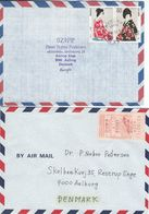Japan - Airmail. 2 Covers Sent To Denmark.  H-1324 - Luchtpost