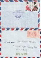 Japan - Airmail. 2 Covers Sent To Denmark.  H-1324 - Poste Aérienne