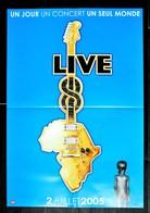 PLAN MEDIA BON DE PRECO AFFICHE PLIEE FORMAT 60X40 LIVE 8 TRES BON ETAT RARE - Manifesti & Poster