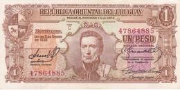 BILLETE DE URUGUAY DE 1 PESO DEL AÑO 1939 DIFERENTES FIRMAS CALIDAD EBC (XF) (BANKNOTE) - Uruguay