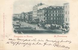 Litho ST. PETERSBOURG (Russland) - Perspective De Nevsky, Gel.1899 V. St.Petersbourg > Türnitz, Gute Erhaltung - Russland