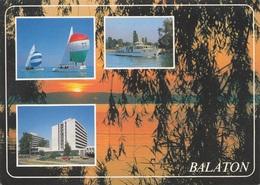 Gruß Vom BALATON (Ungarn) - 2 Sondermarken Auf Ak - Ungarn