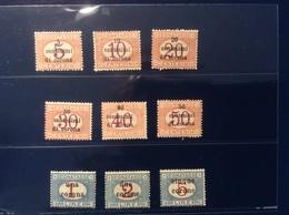 Italia Terre Redente Trento E Trieste 1919 Segnatasse 1-9  (Italy 1914-18 WW1 War Postage Due Österreich - Occupation 1ère Guerre Mondiale