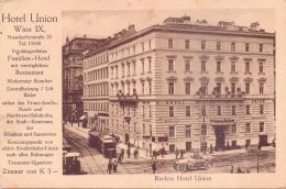 ALTE  AK   WIEN / IX. Bezirk / Alsergrund   - Rieders Hotel Union - Gedruckt 1914 - Sonstige