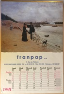 Calendrier De 1991 De Marque FRANPAP Sa Format : 33x49,5 Cm - Photo De Lauros/ Giraudon - Calendriers