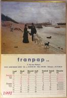Calendrier De 1991 De Marque FRANPAP Sa Format : 33x49,5 Cm - Photo De Lauros/ Giraudon - Big : 1991-00