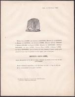 LIEGE 1830 Croix De Fer Louis JAMME Ancien Bourgmestre 1848 68 Ans Famille LAGUESSE GERARD De KONINCK DONCKIER - Obituary Notices