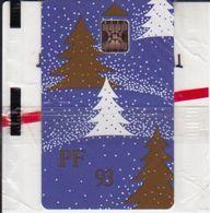 Mint Complimentary Card A7. Christmas Tree, Chip SC5 - Czechoslovakia