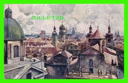 PRAQUE, TCHÉQUIE - VUS PRIS DE TOUR DU PONT - ÉDIT. F. J. JEDLICKA - WRITTEN IN 1921 - POHLED S MOSTECKE VEZE - - Tchéquie