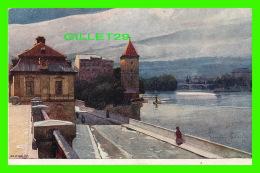 PRAQUE, TCHÉQUIE -  UN COIN DE LA MOLDAVIA - PARTIE NA VLTAVE - ÉDIT. F. J. JEDLICKA - WRITTEN IN 1921 - - Tchéquie