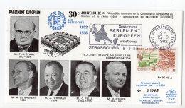 1982 - Strasbourg - Conseil De L'Europe - Séance Sol. De Commémoration. Mrs SPAAK, DE GASPERI, FOHRMAN, PELLA Et FURLER - Europese Instellingen