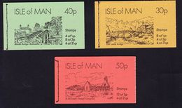 ILE DE MAN CARNET (Booklet) 1974 N° SB5, SB6 Et SB7 SERIE COMPLETE 30P, 40P Et 50P ** - Isla De Man