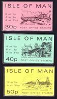 ILE DE MAN CARNET SACHET (Booklet Sachet) 1974 N° SB5, SB6 Et SB7 SERIE COMPLETE 30P, 40P Et 50P ** - Isla De Man