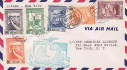 GUINE. FIRST FLIGHT. PAN AMERICAN AIRWAYS BOLAMA NEW YORK.-TBE-BLEUP - Portuguese Guinea