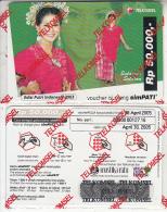 INDONESIA - Girl, Telkomsel Prepaid Card Rp 50000, Exp.date 30/04/05, Sample, Mint - Indonesia