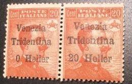 VARIETY Sa. 30c ** Terre Redente TRENTINO ALTO ADIGE 1918  (Italy Italy 1914-18 WW1  War Österreich Tirol Südtirol - Trente