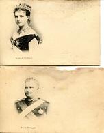 2 CPAs Portugal, Reine Amélie D'Orléans Et Roi Charles 1er De Portugal - Koninklijke Families