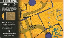 CARTE-PUCE-POLYNESIE-60U-PF61A-GEMB-ART MAOHI 97-Retirage08/98-UTILISE-TBE- - French Polynesia