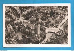AMSTERDAM WESTERTOREN CARTOLINA FORMATO PICCOLO VIAGGIATA Storia Postale - Amsterdam