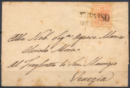 Stamp Austria LOMBARDY VENETIA 1850 15c Used - 1850-1918 Empire