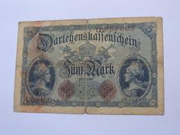 5 FÜNF Mark  - 1914 - Germany - Allemagne   *****  EN ACHAT IMMEDIAT ***** - [ 2] 1871-1918 : German Empire