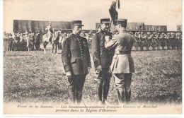 POSTAL   FRONT (BATALLA)DE LA SOMME -1916- -FRANCIA -LES LIEUTENANTS-AVIATEURS FRANÇAIS GARROS ET MARCHAL - Otros Municipios