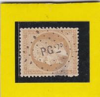 N° 21   AMBULANT DE FRANCE PG2 °     -REF 17150 - 1862 Napoleon III
