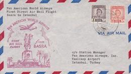 IRAQ. FIRST FLIGHT. PAN AMERICAN AIRWAYS BASRA TO ISTAMBUL.-TBE-BLEUP - Irak