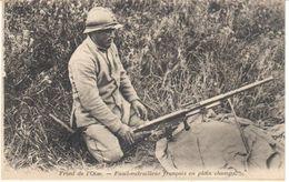 POSTAL   FRONT (BATALLA) DE L'OISE-1916- -FRANCIA -FUSIL-METRAILLEUR FRANÇAISE EN PLEIN CHAMPS - Otros Municipios