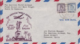 IRAQ. FIRST FLIGHT. PAN AMERICAN AIRWAYS BASRA TO DAMASCUS.-TBE-BLEUP - Irak