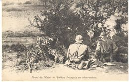 POSTAL   FONT DE L'OISE  -FRANCIA - SOLDATS FRANÇAIS EN OBSERVATION - Otros Municipios