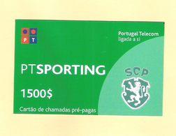 PREPAID SPORTING 1500 $ PORTUGAL TOP AS ON PHOTO - Portugal