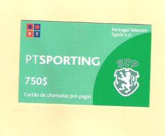 PREPAID SPORTING 750 $ PORTUGAL TOP AS ON PHOTO - Portugal