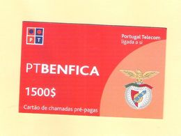 PREPAID BENFICA 1500 $ PORTUGAL TOP AS ON PHOTO - Portugal