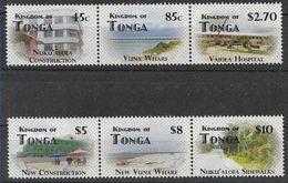 2012 TONGA 1280-85** Démocratie, Hôpital, Plages,  Côte 55.00 - Tonga (1970-...)